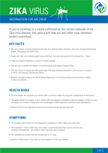 Zika Factsheet for aircrews