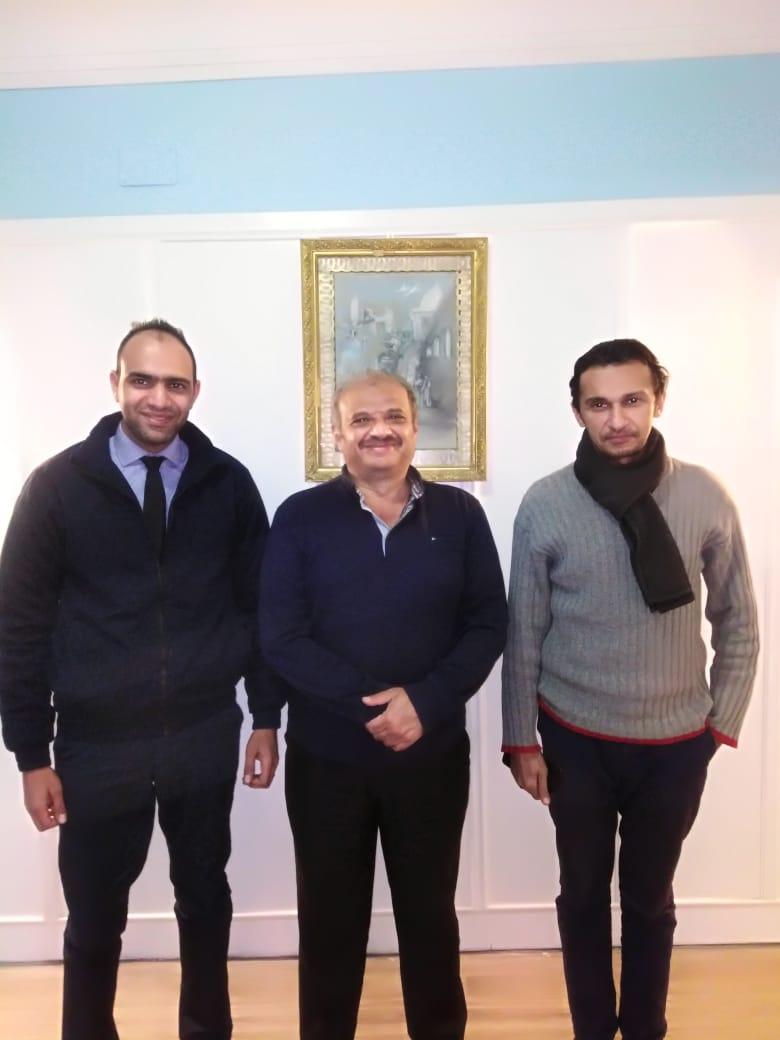 Captain Kara with Al Alchazli and the captain's ITF-provided lawyer