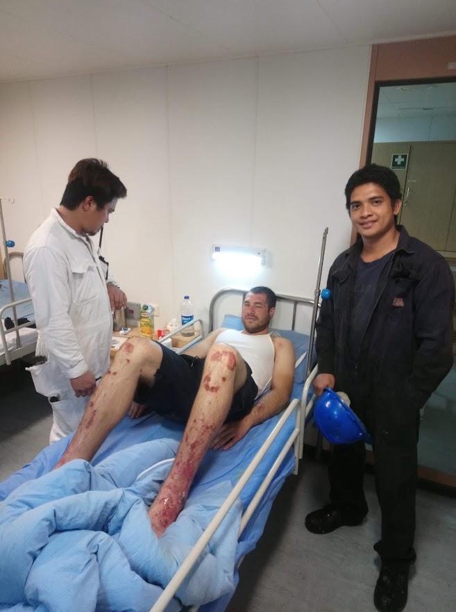 Yevgeniy Nikolov recovers in hospital (Credit: MTWTU)