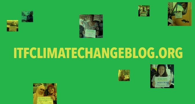 Climate change blog sign