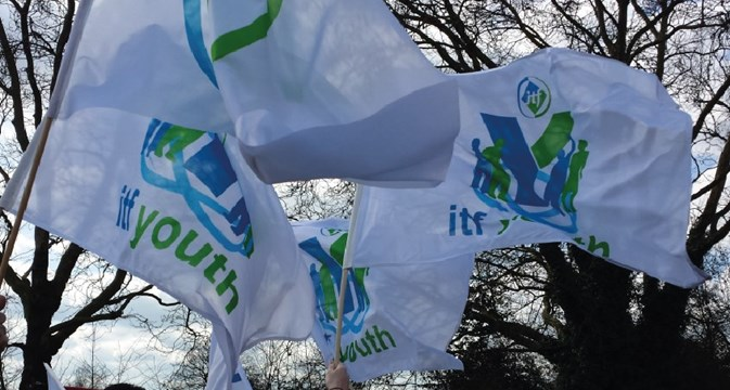 flags of the young transport workers network