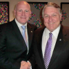 James Hoffa meets with ITF acting general secretary Steve Cotton ahead of tomrorrow's AGM