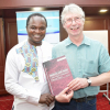 Erick Manga, Institute of Development Studies, University of Nairobi and right, Dave Spooner, Global Labour Institute, Manchester