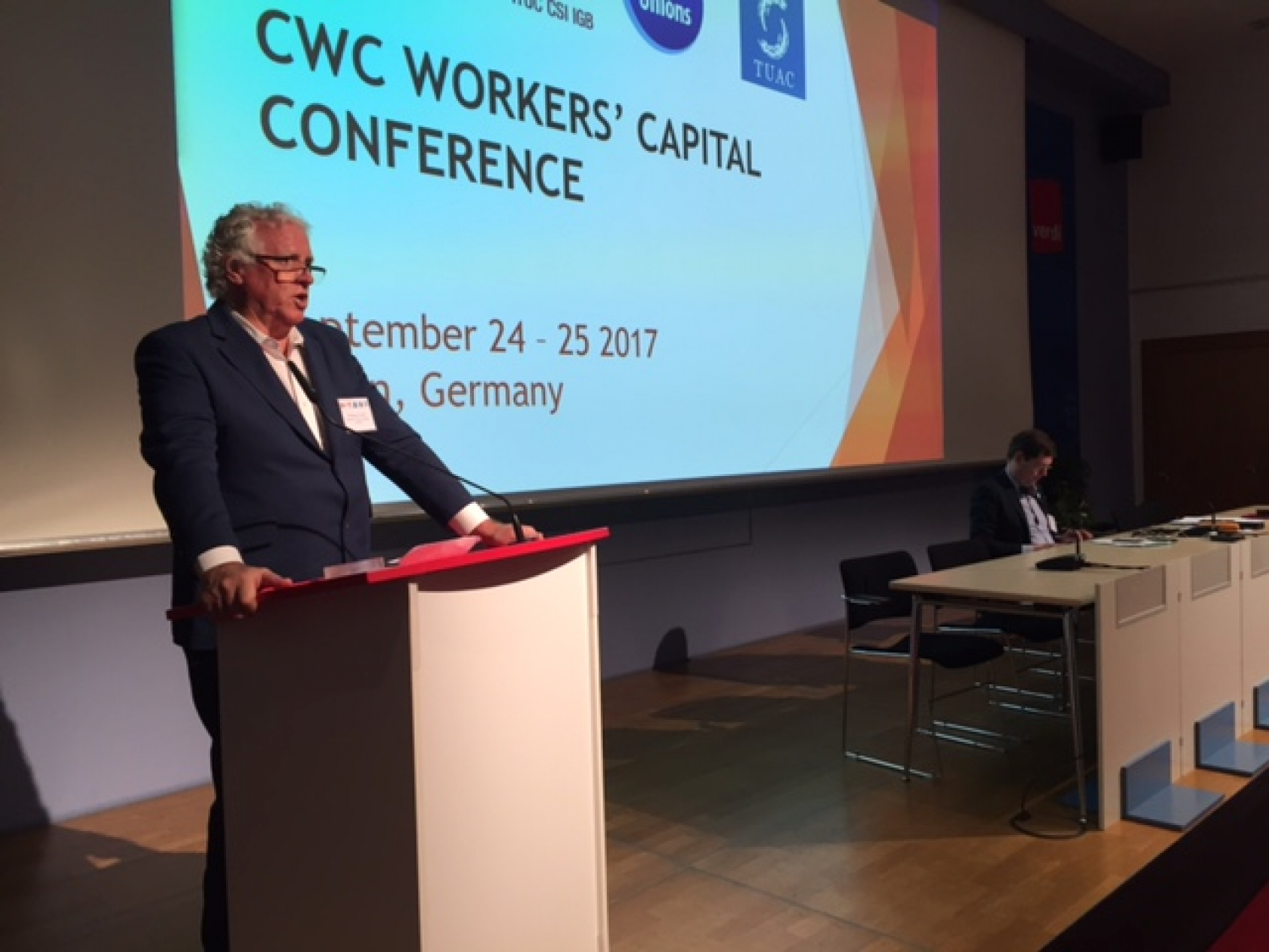 ITF president Paddy Crumlin made the announcement at a meeting of the Committee on Workers' Capital
