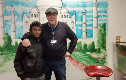 One of the India seafarers, Vasanth, and Tommy Molloy